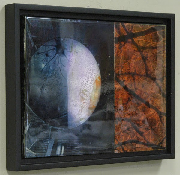 abstract space painting by Sandra Duran Wilson