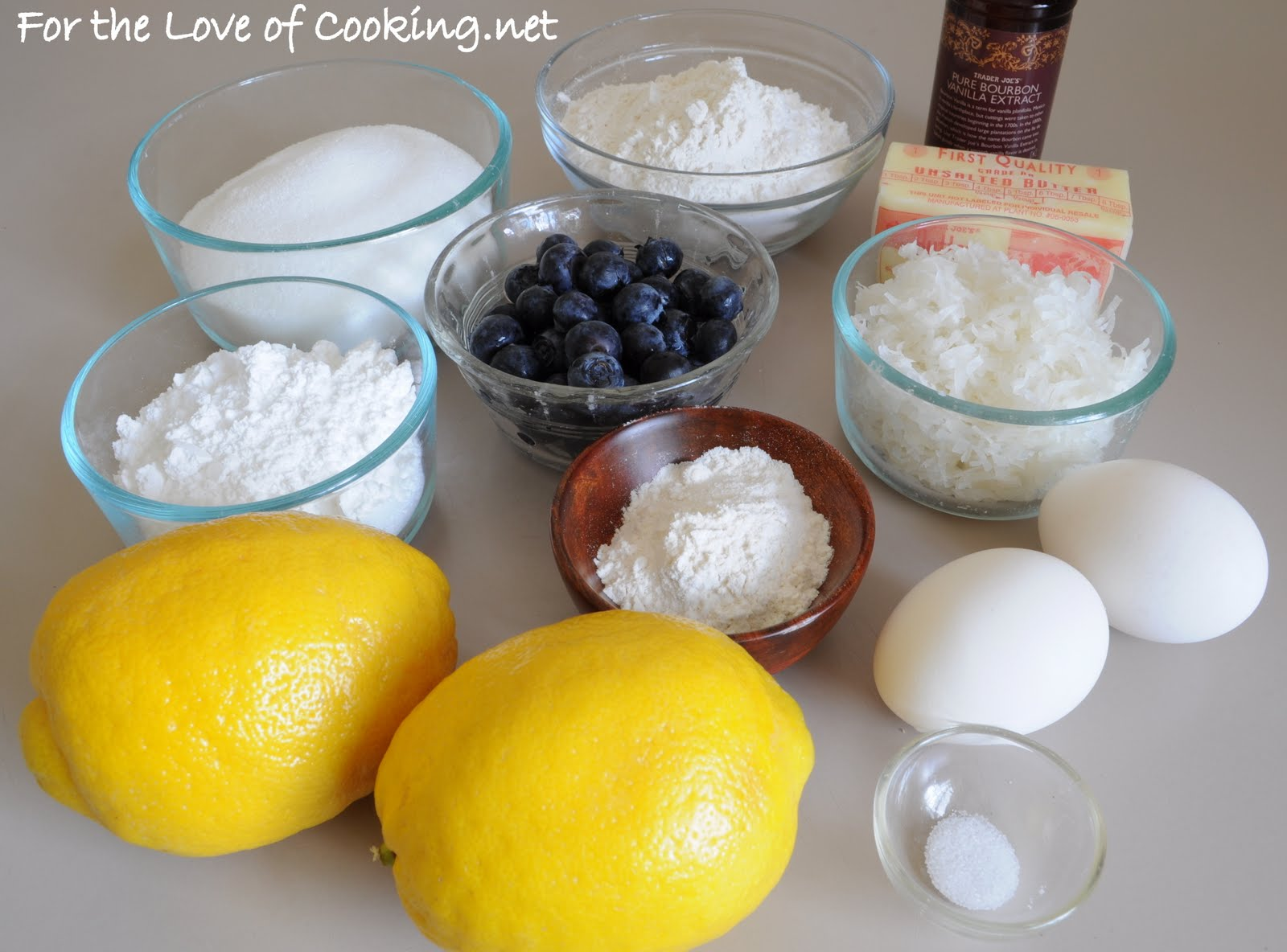 Lemon Blueberry Bars With Coconut Crust Recipe — Dishmaps