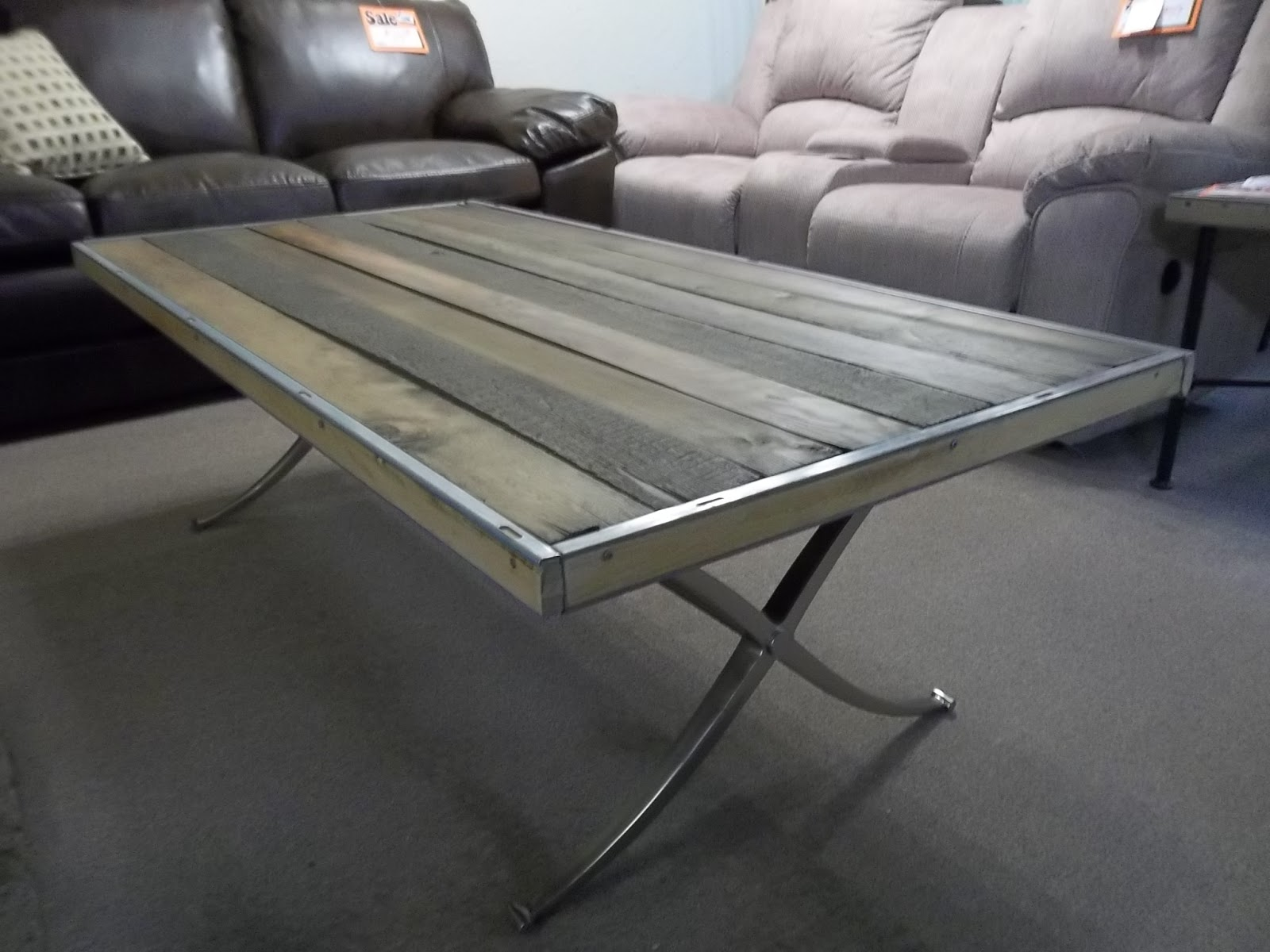 I Am Saved Brushed Aluminum Styled Coffee Table