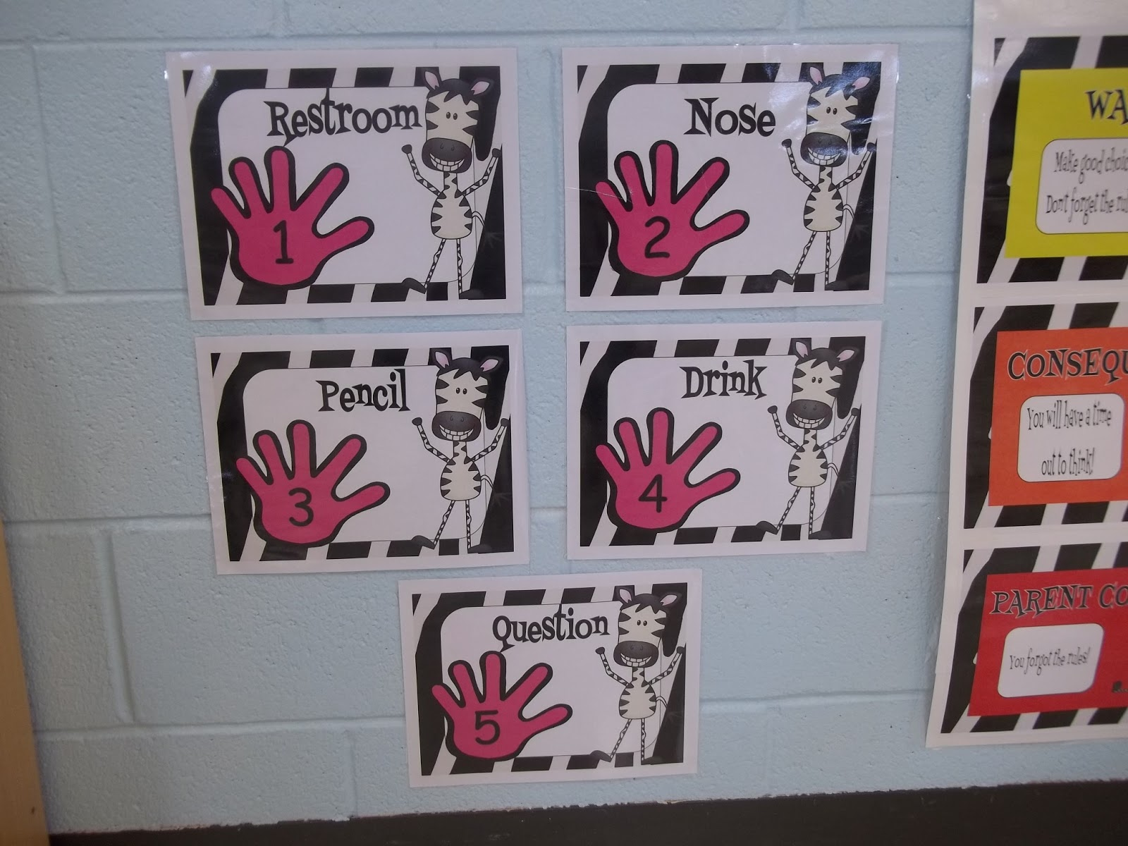 Classroom Decorating Ideas With Zebra Print ~ Mrs mcginnis little zizzers my zebra jungle decorations