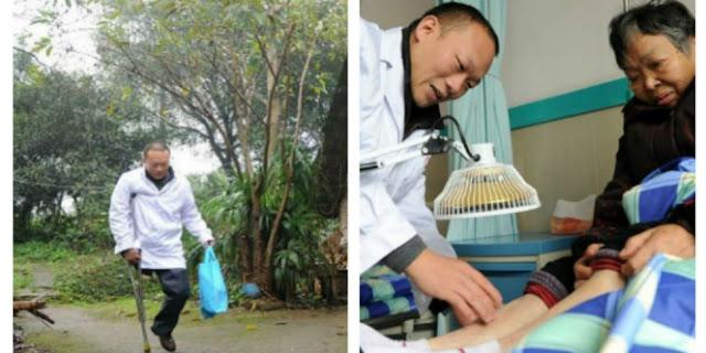 Kisah inspiratif seorang dokter cacat bantu warga tanpa pamrih
