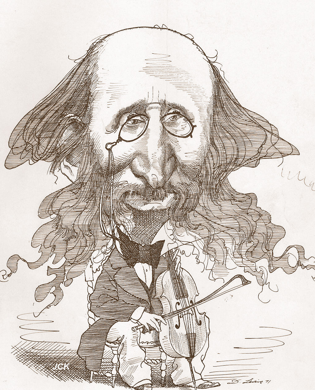 Jacques offenbach caricatures for Kaufmann offenbach