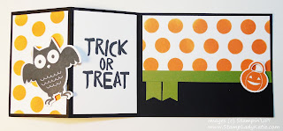 Owl Halloween card made with Stampin'UP!'s Howl-o-ween Treat Stamp Set