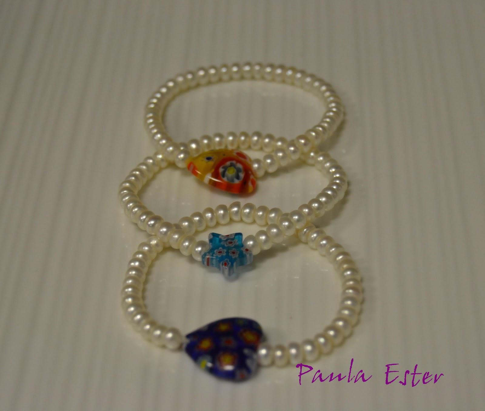 Pulseras de Perlas Cultivadas y piezas de Murano