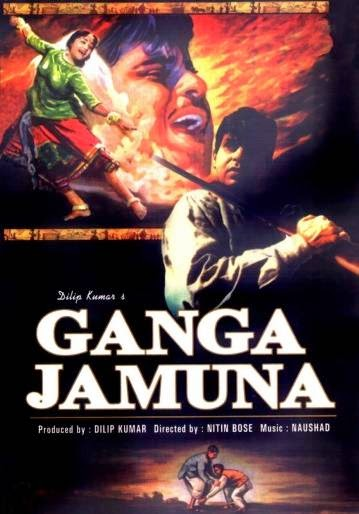 Poster Of Bollywood Movie Gunga Jumna (1961) 300MB Compressed Small Size Pc Movie Free Download exp3rto.com