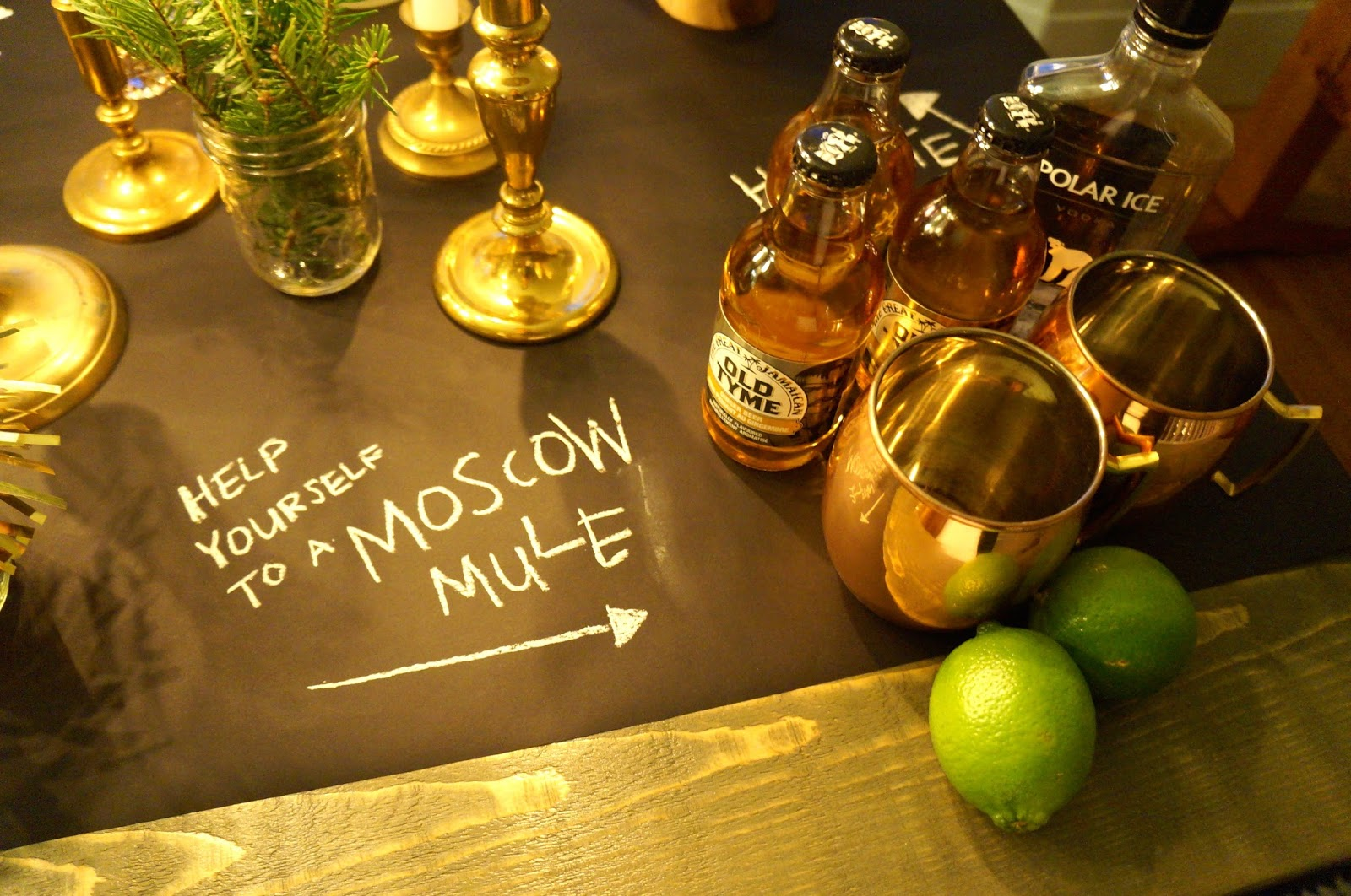 New Year's Eve Tablescape; Party, NYE, Moscow Mule