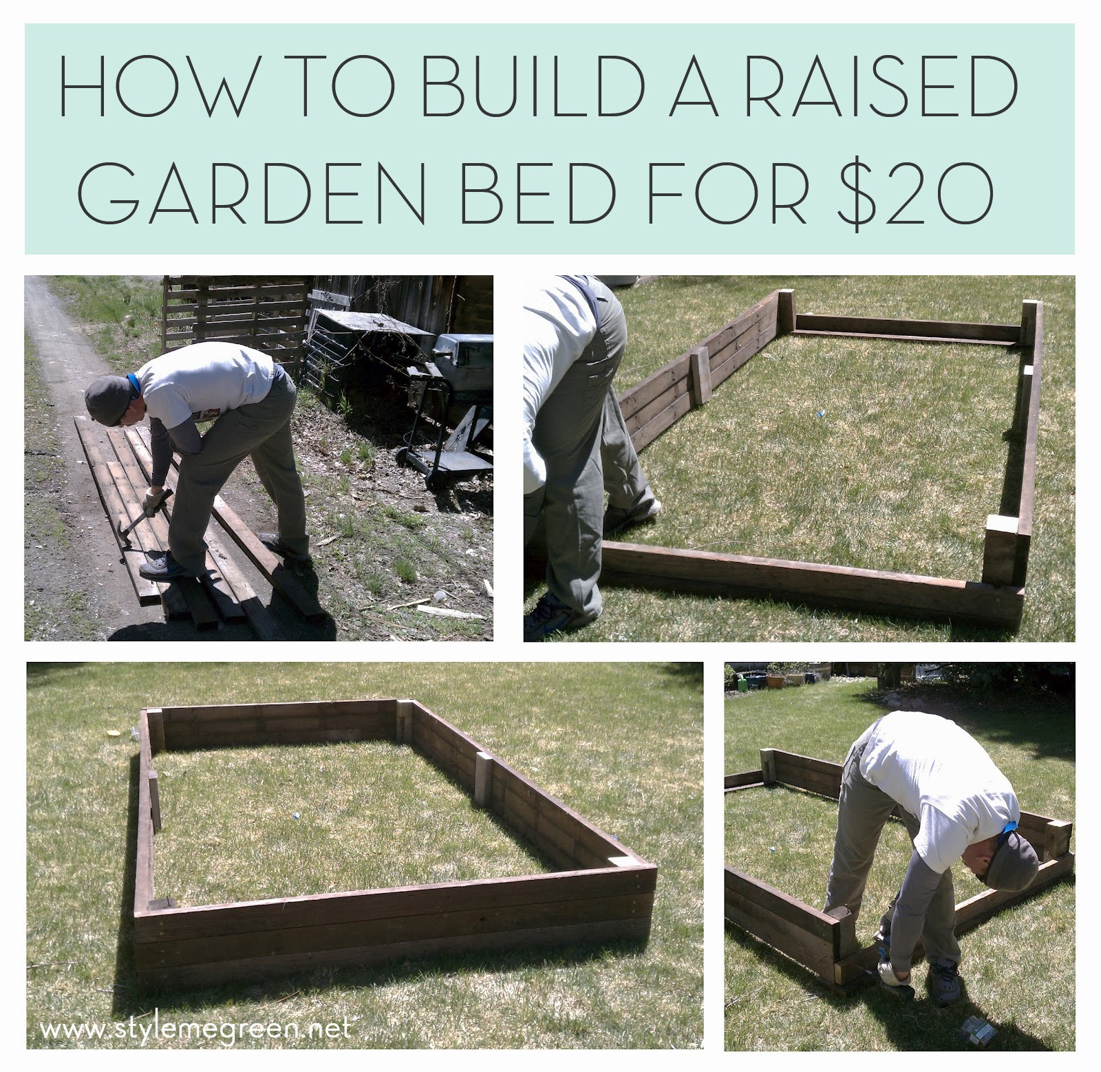 how to build a raised planter garden
