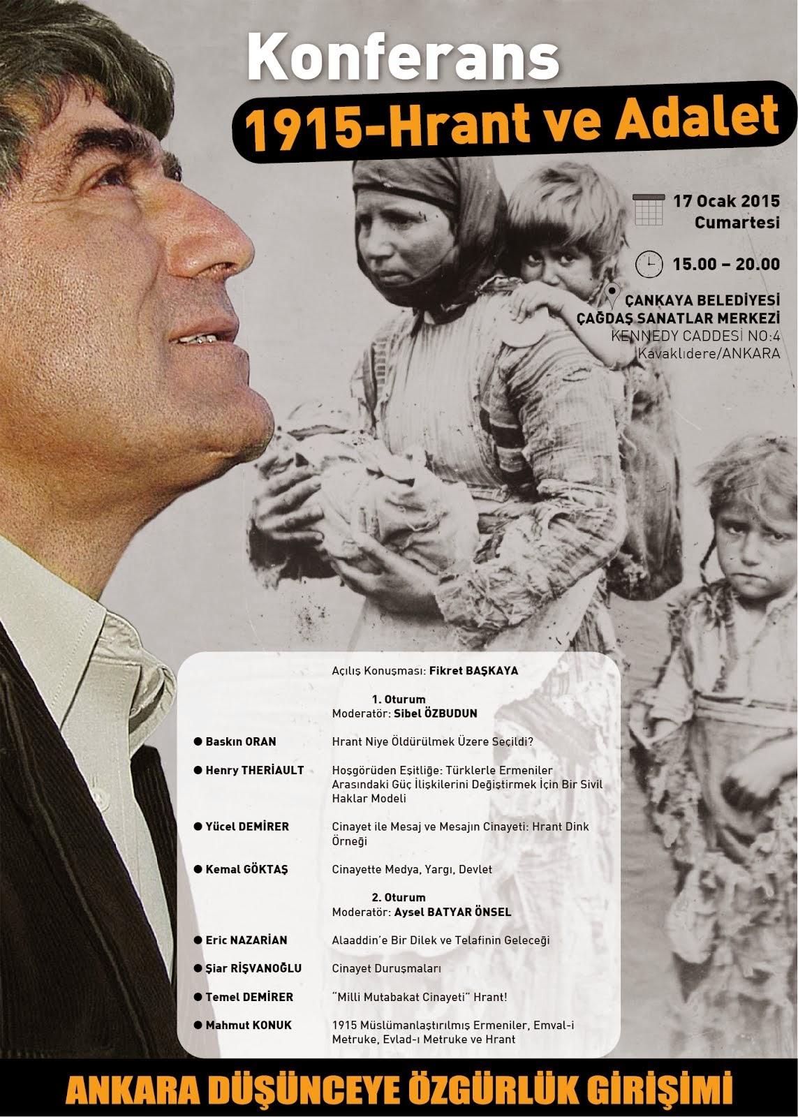 Konferans 1915- Hrant v e Adalet