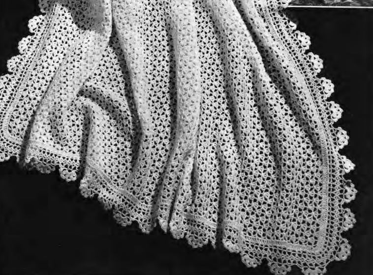 Historic Needlecrafts by KnittyDebby: Traditional knit shawl patterns from 1950