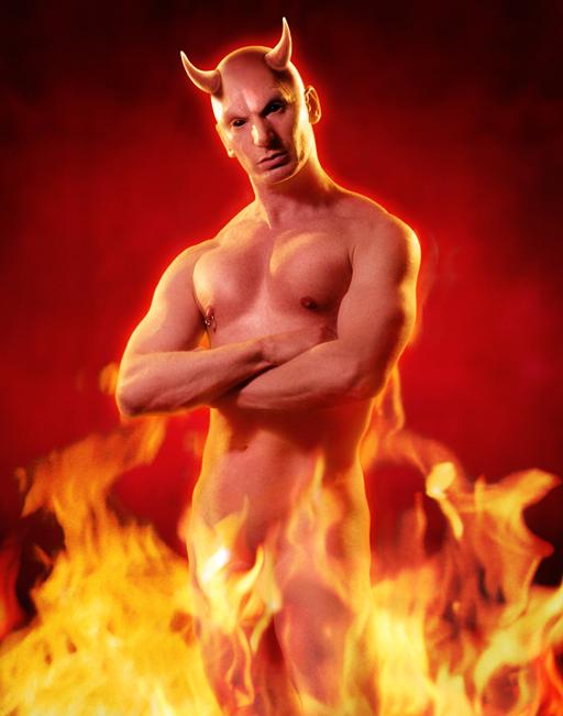 John Dobson devil self-portrait