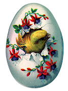 Happy Easter. Posted by Dawn Heese at 8:21 PM easter egg chick vintage graphic graphicsfairy