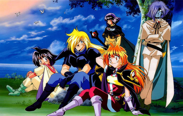 Lina, Gourry, and the gang.