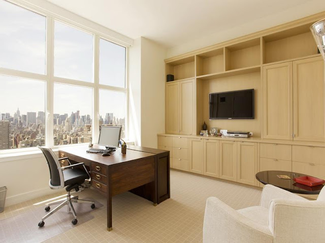 Photo of home office in New York penthouse