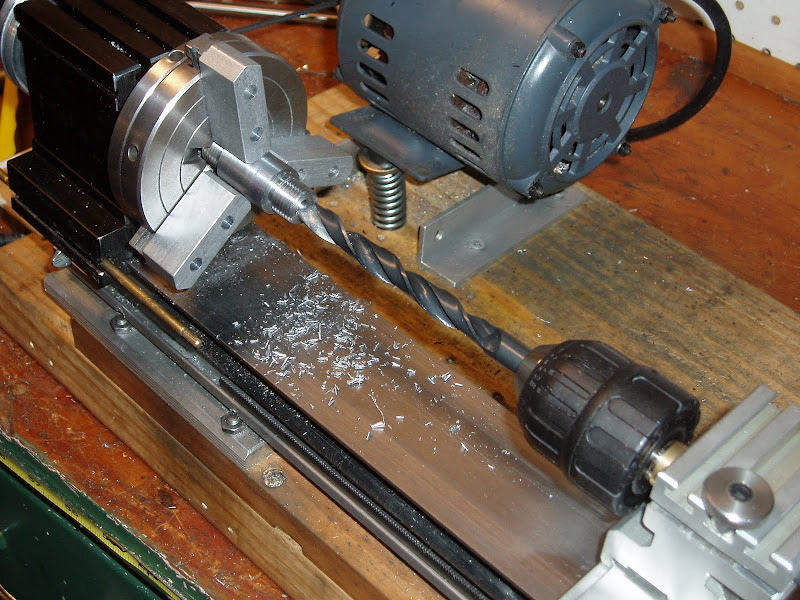 Then spotted and drilled a counterbore. title=