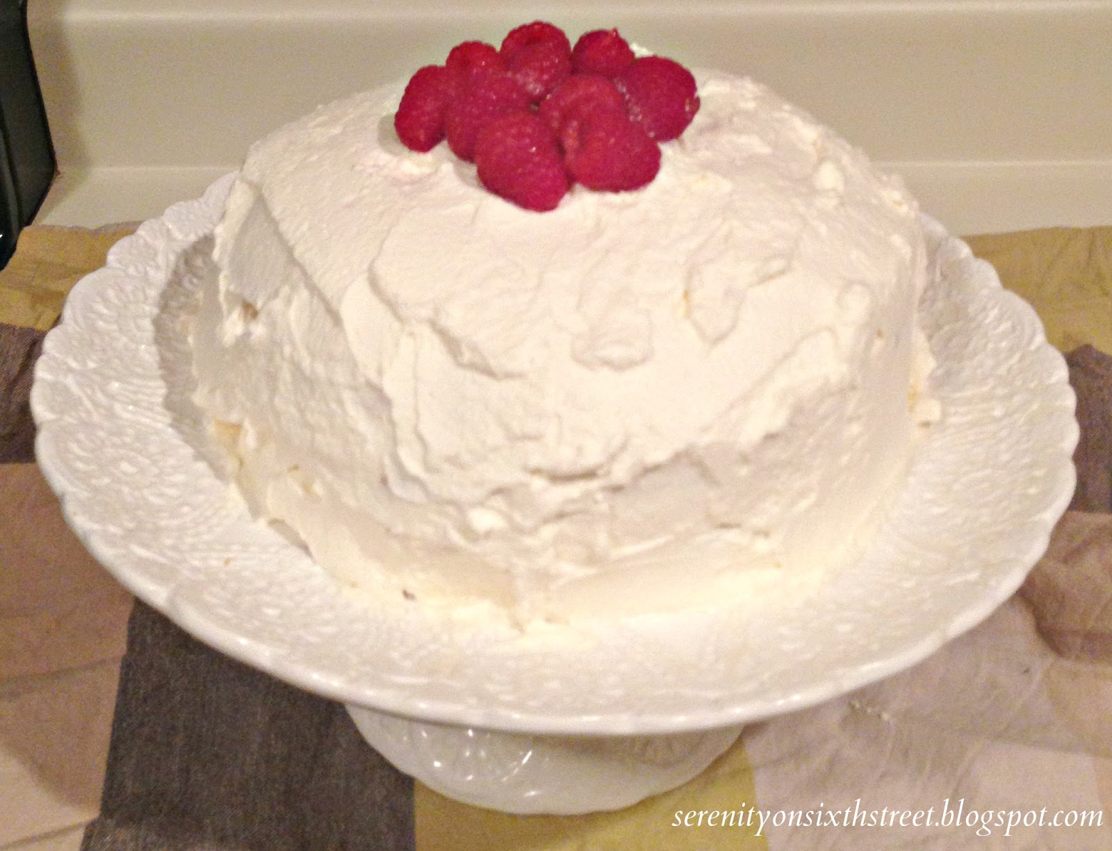 Serenity on Sixth Street: Diet Cake with Whipped Cream Frosting