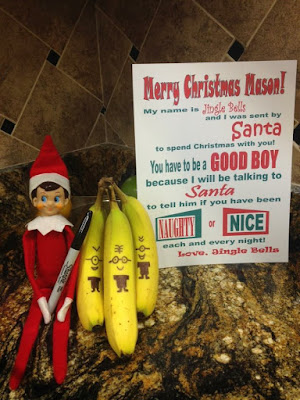 Banana minions Elf on The Shelf
