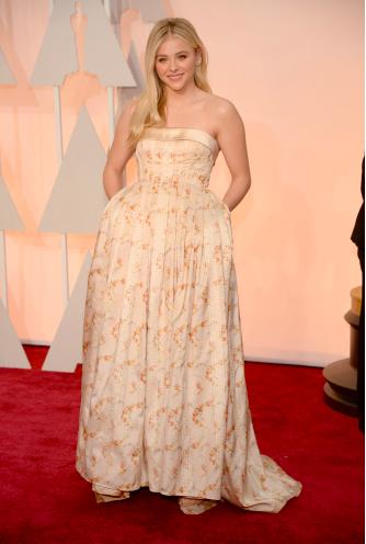 Chloe Grace Moretz Academy Awards red carpet look