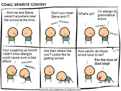 comic strip about grammatical errors