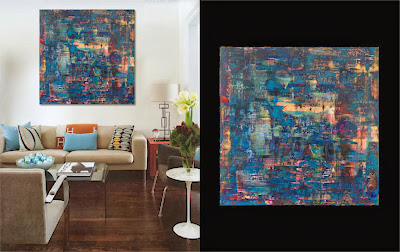 Victor-Raul Garcia's Laguna abstract contemporary painting