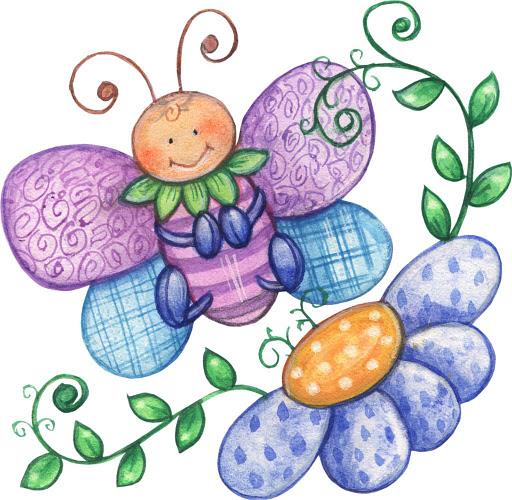 Dibujos De Mariposas Y Flores Para Imprimir