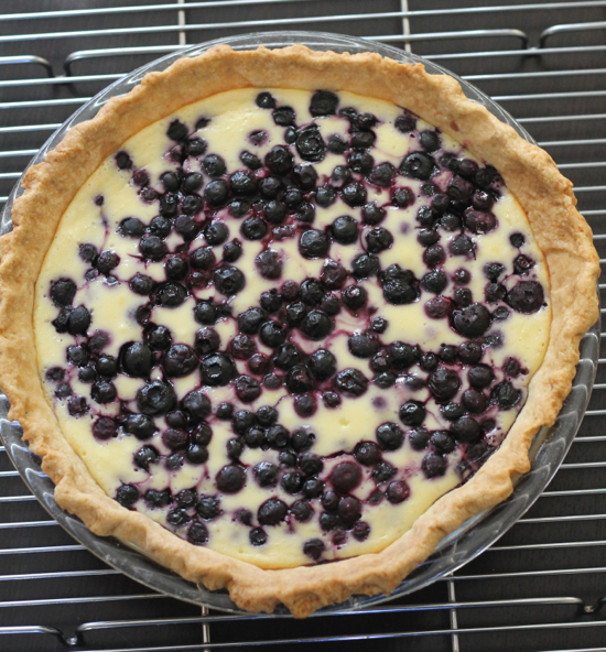 Lemon Blueberry Cream Cheese Pie