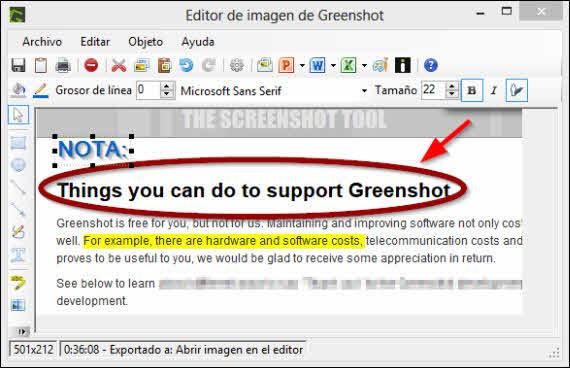 Greenshot, el capturador de imágenes alternativo
