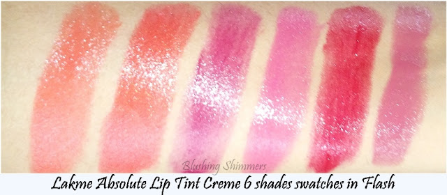 Lakme Absolute Lip Tint Creme Swatches