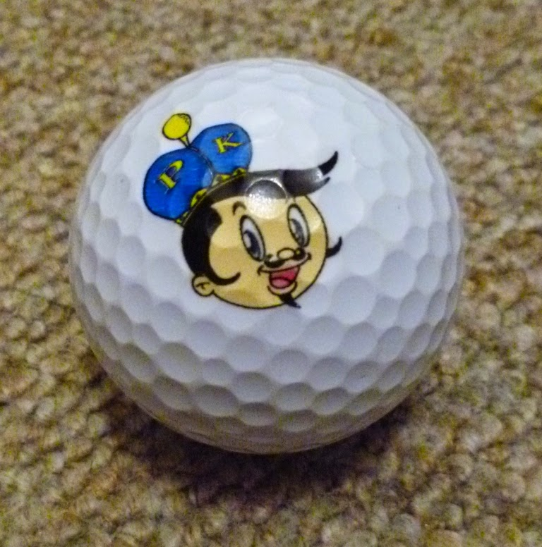 A ball from the Japanese Putter King minigolf franchise and app