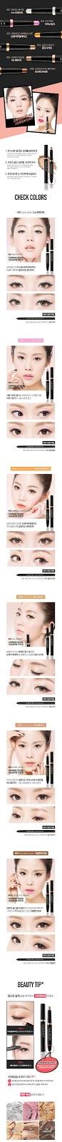 Mắt đẹp với nhũ kẻ mắt karadium Shining pearl stick shadow