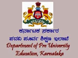 Karnataka PU Board 1st and 2nd PUC Time Table 2015