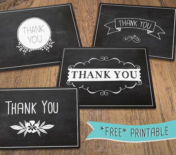 Musings of an average mom free printable thank you cards free chalkboard thank yous reheart Images