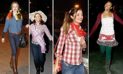 camisas, calças para mulheres em festa junina