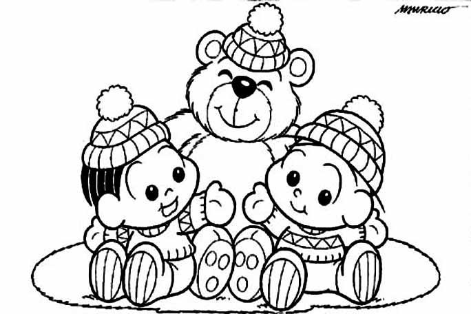 a desenhar Turma Da Monica Bebes colorir