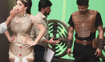 Puli – Making Video | Vijay, Sridevi, Sudeep, Shruti Haasan, Hansika Motwani