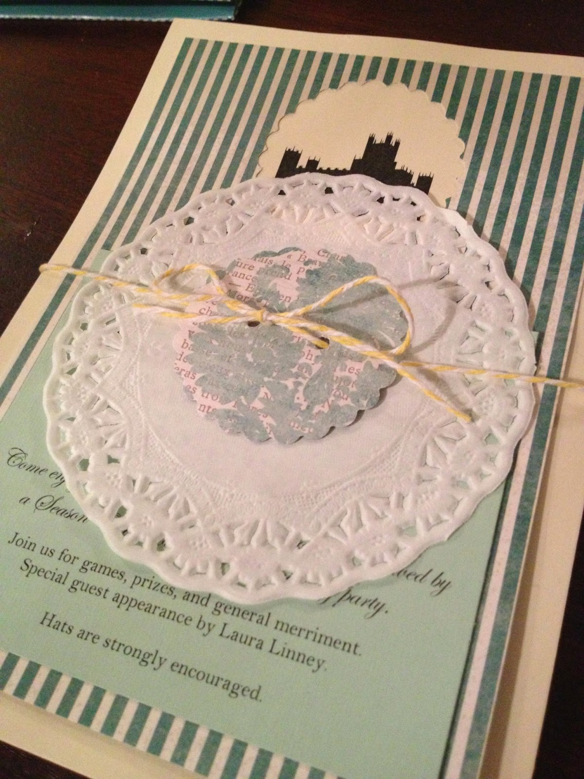 Another crafty day the ultimate guide to a downton abbey viewing here they are feel free to borrow the wording main invitation response card and stamped return envelope after party card monicamarmolfo Image collections