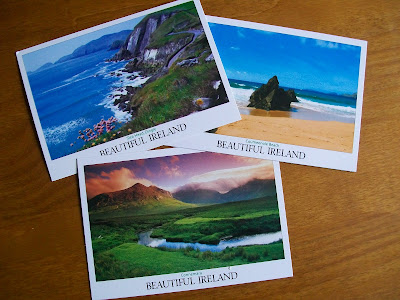 Pen pals, snail mail, postcard, Ireland, Postcrossing,