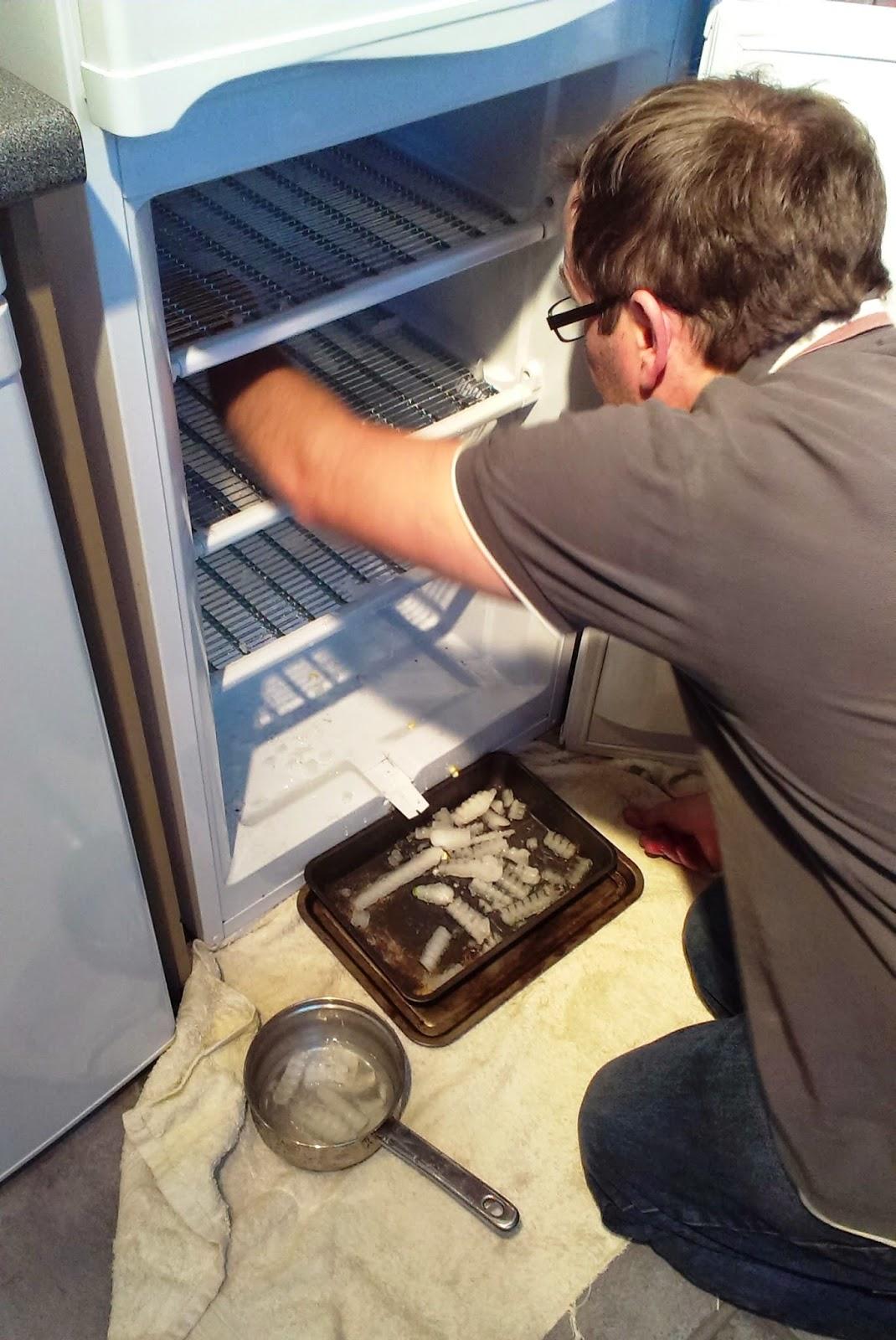 Defrosting a freezer