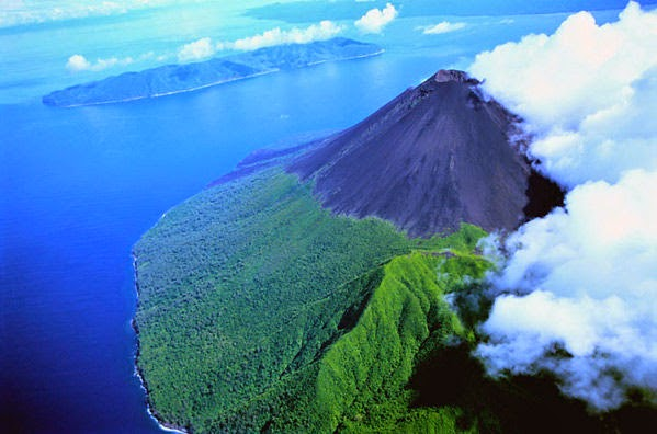 Volcano on Gaua Island