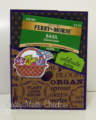 Garden Basket card by Crafty Math-Chick for Newton's Nook Designs
