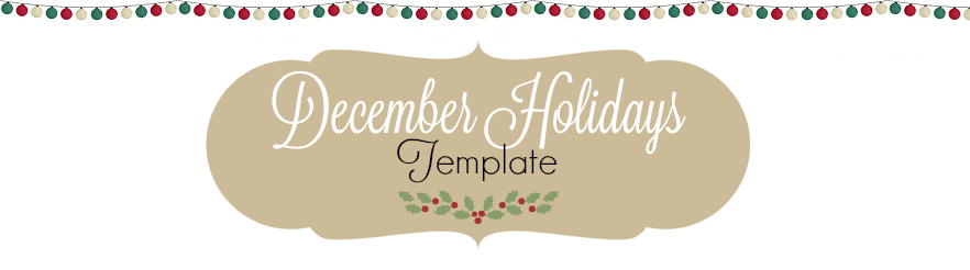 December Holidays Template