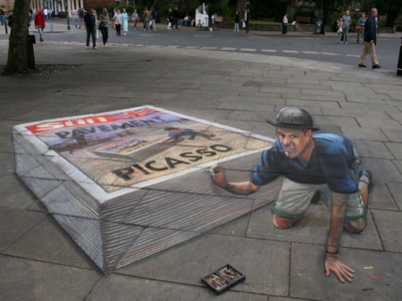 Incredible paintings: Julian Beever Pavement 3D Art