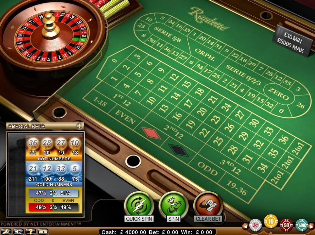 Betsson Roulette Screen