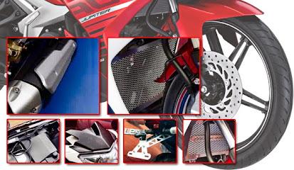 Modifikasi Tampilan MX King 150 Dengan Aksesoris Resmi Yamaha