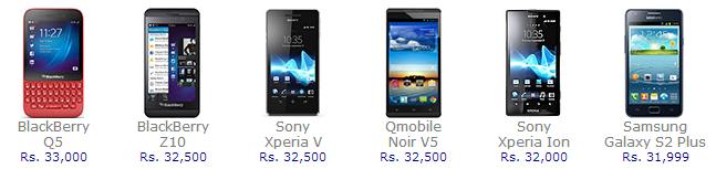 Samsung Galaxy, Apple, HTC, Nokia, Sony Xperia, LG, Nokia Lumia, Huawei, BlackBerry, Qmobile,     Sony Ericsson, Motorola, Voice Xtreme, GFive, Nokia Asha.