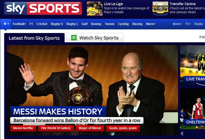 Sjy Sports alabó a Messi