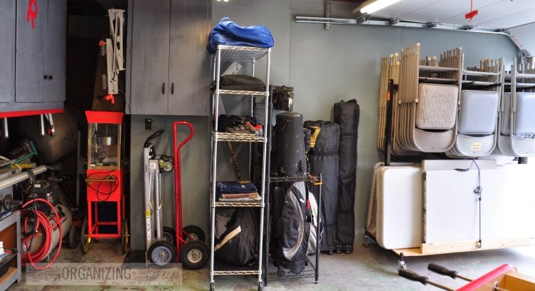 Neatly organized garage :: OrganizingMadeFun.com