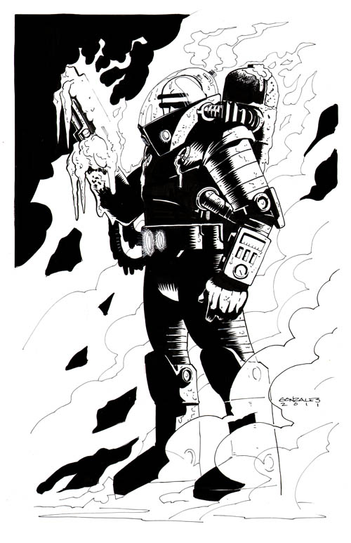 Gene Gonzales. Dibujos de personajes de comics