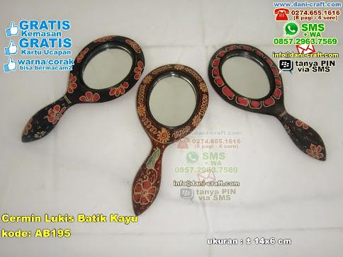 Cermin Lukis Batik Kayu