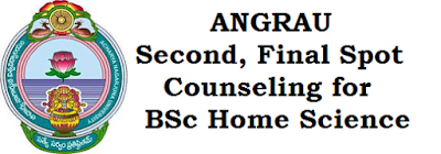 ANGRAU, Counseling, BSC Home Science