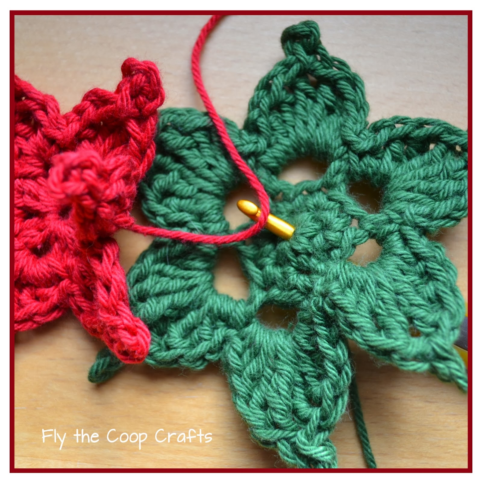 Fly The Coop Crafts Poinsettias A Crochet Tutorial